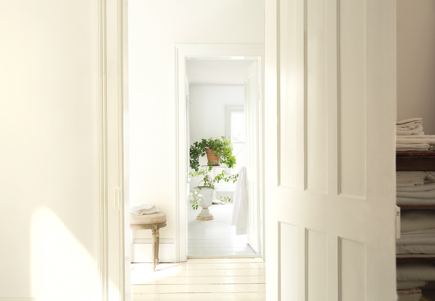 Bright White Walls. Timeless, but maybe not in the kitchen.